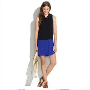 Madewell sleeveless colorblock shirt dress 3AA76